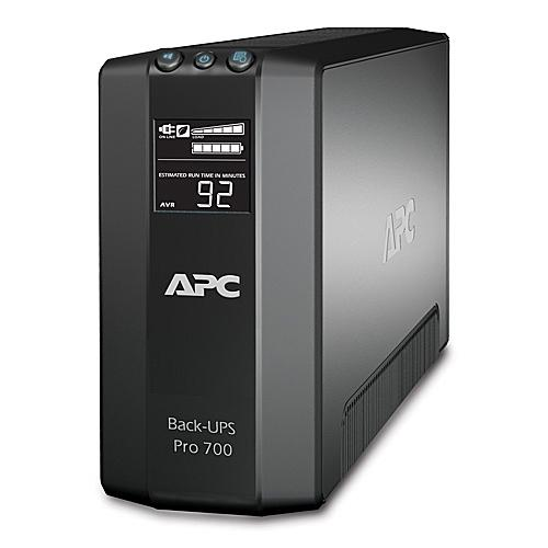 PCM | APC by Schneider Electric, Back-UPS RS LCD 700 Master Control - UPS -  AC 120 V - 420 Watt - 700 VA - USB - output connectors: 6 - black, BR700G