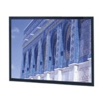 Da Lite Da-Snap HDTV Format - Projection screen - 133 in ( 338 cm ) - 16:9 - Da-Mat - black powder coat 78694