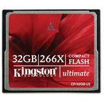 Kingston Digital 32GB Ultimate CompactFlash 266x w/Recovery s/w CF/32GB-U2