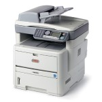 Oki MB 480 - Multifunction printer - B/W - LED - A4/Legal (media) - up to 22 ppm (copying) - up to 30 ppm (printing) - 580 sheets - 33.6 Kbps - parallel, USB 2.0, LAN 62433302