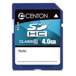 Centon SDHC 4GB Class 10 (10MB/S) Flash Card - Blue rc4gbsdhc10