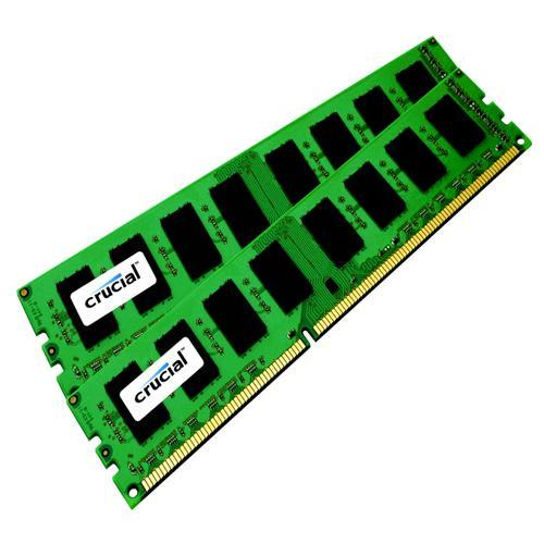 Crucial 4GB kit (2GBx2), 240-pin DIMM, DDR3 PC3-8500 Memory Module