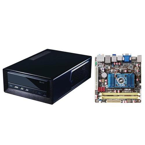 ASUS Ion Intel Atom N330 Mini ITX DDR2 Motherboard plus Mini ITX Slimline Desktop Chassis