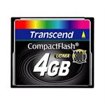 Transcend CF300 Industrial - Flash memory card - 4 GB - 300x - CompactFlash TS4GCF300
