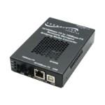 Stand-Alone OAM/IP-Based Remotely Managed - Fiber media converter - Ethernet, Fast Ethernet - 10Base-T, 100Base-FX, 100Base-TX - RJ-45 / ST multi-mode - up to 1.2 miles - 1300 nm