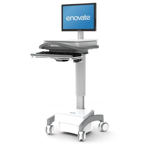 Enovate Enovate LCD Medical Cart: Non-Pwr, Lvl1