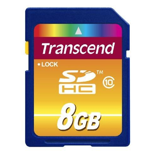 Transcend 8GB SDHC Class 10 Flash Memory Card