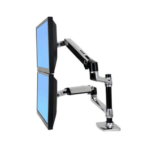 Ergotron LX Dual Stacking Arm - mounting kit
