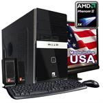 "7340Ma AMD Phenom II X4 945 Quad-Core 3.0GHz Desktop PC With 22"" LCD Monitor - 6GB RAM, 1TB SATA Hard Drive, DVD+/-RW, Gigabit Ethernet, Radeon HD 3100 Graphics"