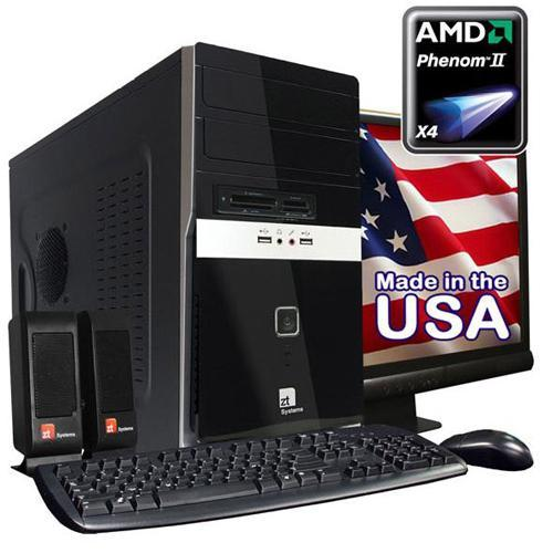 "ZT Systems 7340Ma AMD Phenom II X4 945 Quad-Core 3.0GHz Desktop PC With 22"" LCD Monitor - 6GB RAM, 1TB SATA Hard Drive, DVD+/-RW, Gigabit Ethernet, Radeon HD 3100 Graphics"