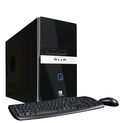 ZT Systems 7347Mi Intel Core 2 Quad Q9300 2.5GHz Desktop PC - 8GB RAM, 1.5TB SATA Hard Drive, DVD+/-R/RW, Intel X4500 HD, Gigabit Ethernet, Windows 7 Home Premium 64-bit.