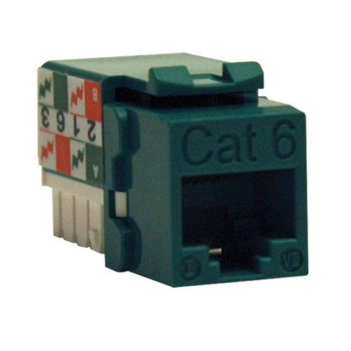 TrippLite Cat6/Cat5e 110 Style Punch Down Keystone Jack - Green