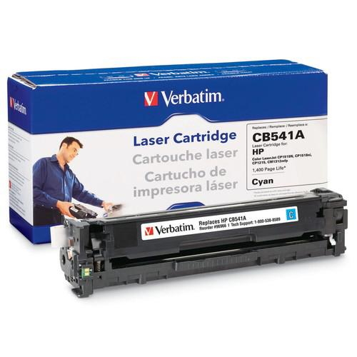 Verbatim HP CB541A Remanufactured Toner Cartridge Cyan (Color LaserJet CP1515N, CP1518ni, CP1215, CM1312mfp)