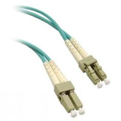 Micro Connectors3 Meter LC to LC 10 Gigabit Aqua Duplex Single Mode Fiber Optic Cable 50/125(FBR-1010-3M)