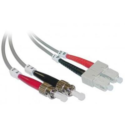 Micro Connectors3 Meter SC to ST Duplex Single Mode Fiber Optic Cable 9/125(FBR-515-3M)