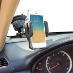 CR-3600 Universal Car Holder & Mount for iPhone 6, 5S, 5C, 5, 4S, 4, 3GS, 3G, Samsung Galaxy S5, S4, S3, S2, Note, Note 2, Nexus S, HTC One X, S, SV, Motorola Droid Razr HD, Maxx, Nokia Lumia 920, LG Optimus G on Windshield & Dashboard