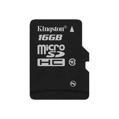 Kingston Digital 16GB microSDHC Class 10 Flash Card Single Pack Without Adapter