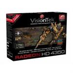 Visiontek Radeon 4350 SFF - Graphics card - Radeon HD 4350 - 512 MB DDR2 - PCIe low profile - 4 x DVI, HDTV-out 900308