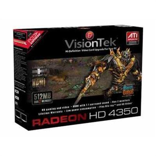 Visiontek Radeon HD 4350 X1 graphics card - Radeon HD 4350 - 512 MB