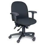 Anthro Corp Basic Office Chair - Black Fabric 901BK