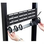 Zero U-Height Cable Manager - Rack cable management panel (pack of 2 )