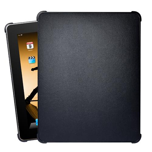 Xgearlive Black folio faux leather protector case for your iPad