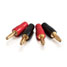 Cables To Go 12 AWG Solder-Style Banana Plug Speaker Connector - 4pk 29784