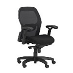 Global Industries SYNCHRO-TILT MESH BACK DESK CHAIR - BLA B58818