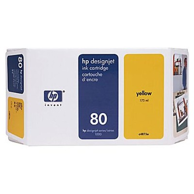 HP80 175ml Yellow Ink Cartridge(C4873A )