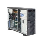 Supermicro SC743 T-500B - Tower - 4U - extended ATX - SATA/SAS - hot-swap 500 Watt - black - USB