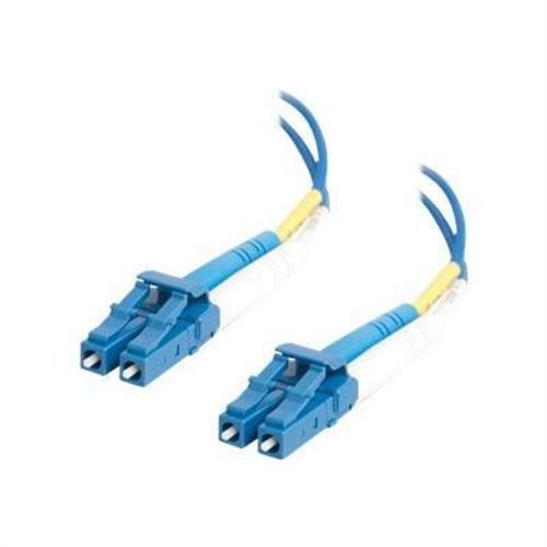 Cables To Go OS1 LC/LC Duplex 9/125 Single Mode Fiber Patch Cable - patch cable - 6.6 ft - blue