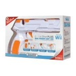 dreamGEAR Quick Shot PLUS - Light gun - wireless - white, orange - for Nintendo Wii DGWII-1253
