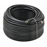 100Ft F-F Rg6 Patch Cable Black