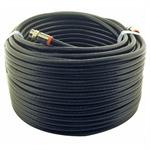 50Ft F-F Rg6 Patch Cable Black