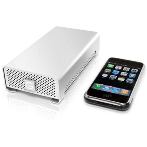 G-Technology G-RAID mini 1TB/ 7200RPM Professional, Bus-Powered, Portable external hard drive, with RAID 0/1 functionality (eSATA, 2 X FW800, FW400 via cable, and USB 2.0)