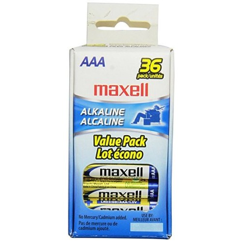 Maxell LR03  AAA Alkaline General Purpose Battery - 36 pack