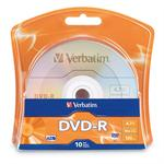 10 x DVD-R - 4.7 GB (120min) 16x - blister