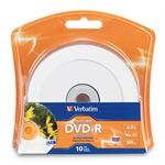 Printable - 10 x DVD-R - 4.7 GB ( 120min ) 16x - white - ink jet printable surface - blister