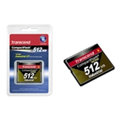 Transcend Ultra Speed Industrial - flash memory card - 512 MB - CompactFlash
