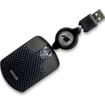 Travel Mouse NRTM-BK - Mouse - optical - wired - USB - black