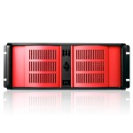 D-400 4U Compact Stylish Rackmount Chassis - Red Bezel