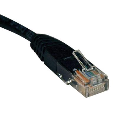 TrippLite4ft Cat5e 350MHz Molded Cable (RJ45 M/M) - Black(N002-004-BK)