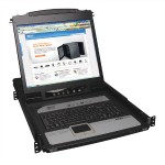 TrippLite NetDirector 8-Port 1U Rack-Mount Console KVM Switch with 19-in. LCD and IP Remote Access B020-U08-19-IP