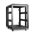15U 4-Post 800mm Open Frame Rack