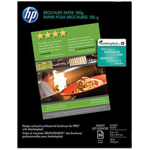 HP Inkjet Glossy Brochure and Flyer Paper - 8.5 x 11 in (50 sheets)