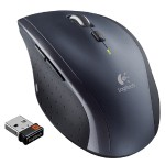 M705 - Mouse - right-handed - laser - wireless - 2.4 GHz - USB wireless receiver