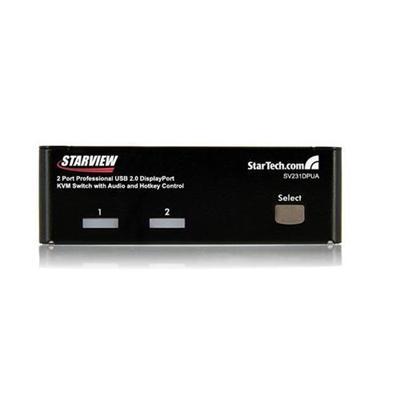 StarTech 2 Port Professional USB DisplayPort KVM Switch with Audio (SV231DPUA)