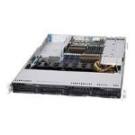 Supermicro SC819 TQ-R700UB - Rack-mountable - 1U - SATA/SAS - hot-swap 750 Watt - black - USB