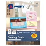 Half-Fold Greeting Cards - Matte - coated - white - Statement (5.5 in x 8.5 in) 20 card(s) greeting cards