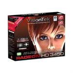 Visiontek Radeon 3450 SFF - Graphics card - Radeon HD 3450 - 512 MB DDR2 - PCI low profile - DVI, D-Sub, TV-out 900321